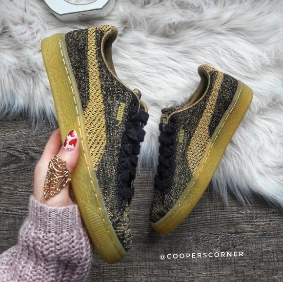 puma basket knit metallic
